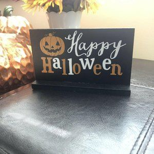 Halloween Wood Small Sign Target Bullseye's Playgr